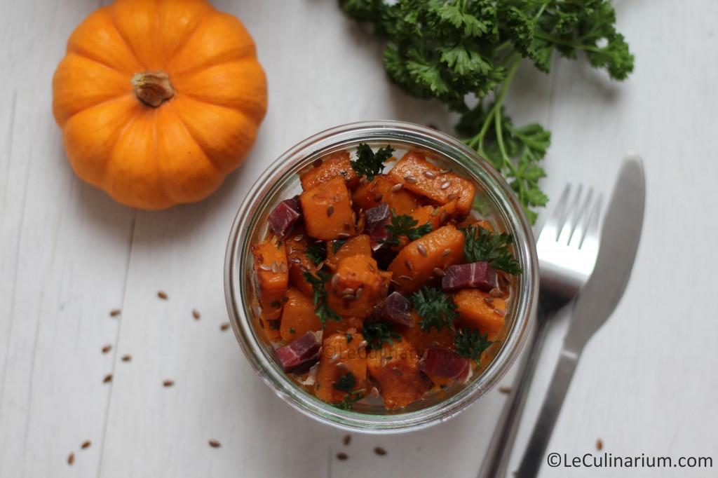 Courge poelée graine de lin et persil copyright Le Culinarium 2
