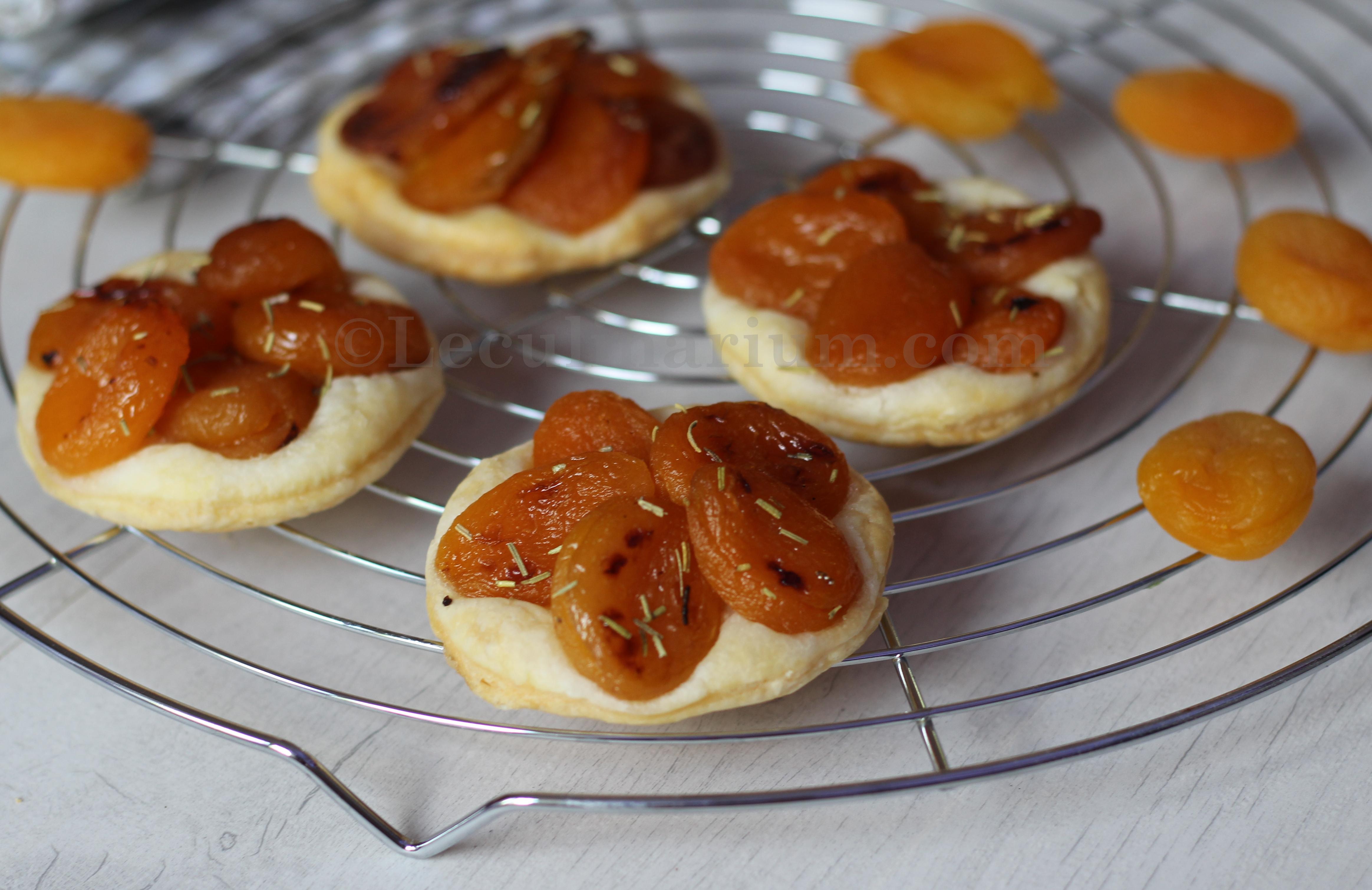 Mini tartelette abricots secs romarin copyright  le culinarium