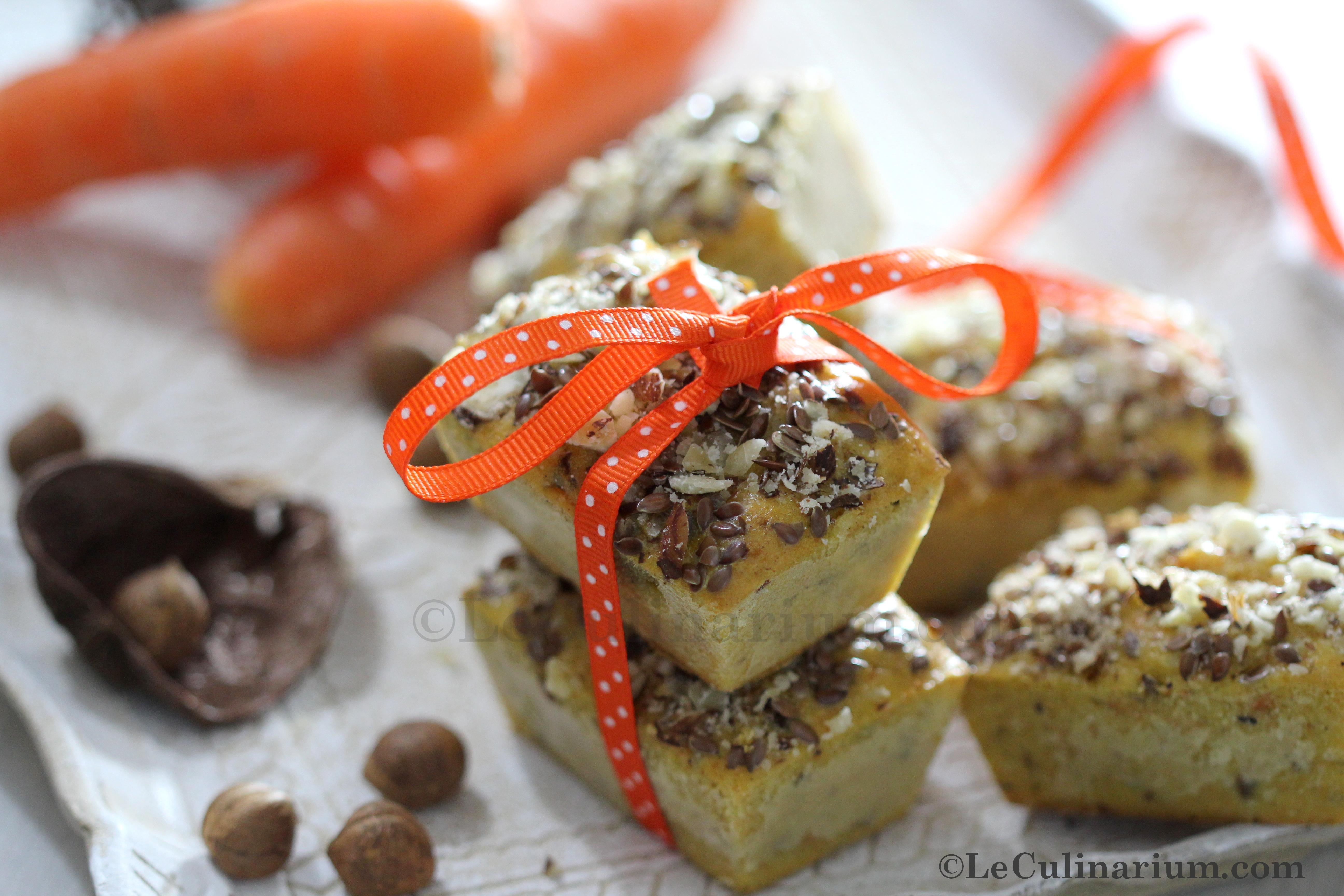 Mini cake carotte et noisette copyright leculinarium
